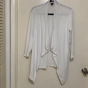 Rafaella white open cardigan with 3/4 sleeves